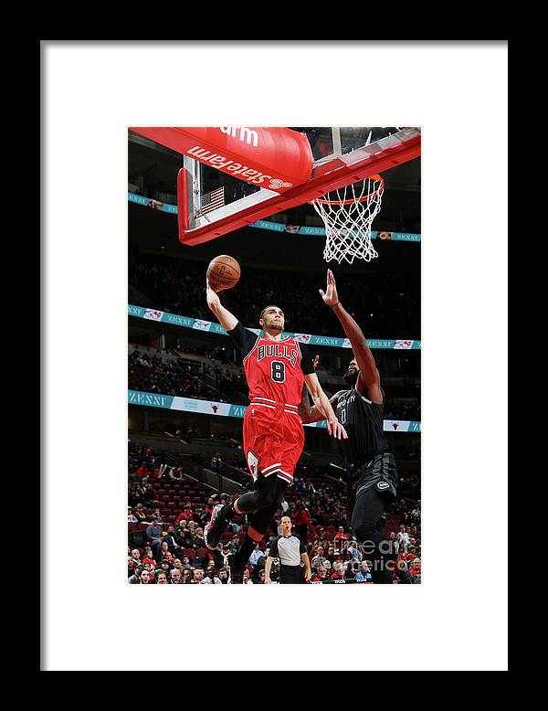 Chicago Bulls Framed Print featuring the photograph Zach Lavine by Gary Dineen
