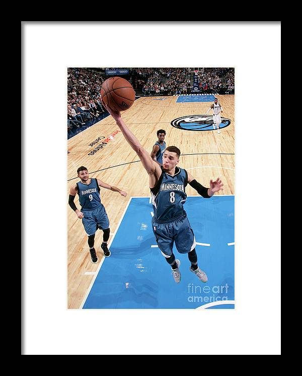 Nba Pro Basketball Framed Print featuring the photograph Zach Lavine by Glenn James