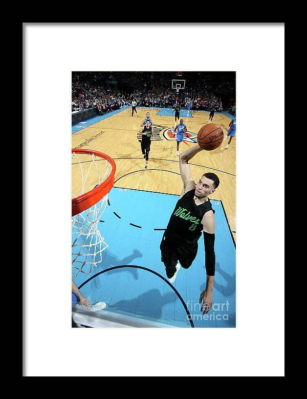 Nba Pro Basketball Framed Print featuring the photograph Zach Lavine by Layne Murdoch