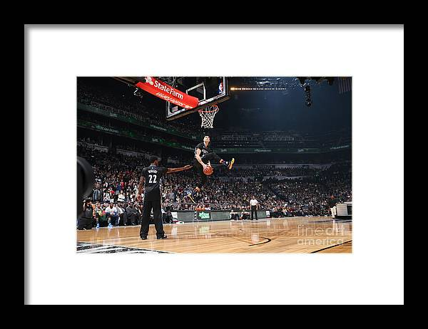 Event Framed Print featuring the photograph Zach Lavine by Reid Kelley