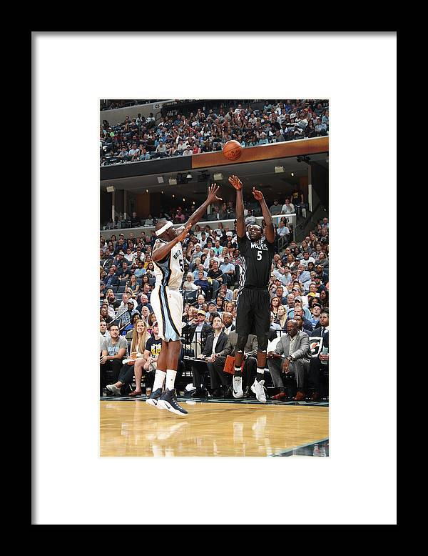 Nba Pro Basketball Framed Print featuring the photograph Zach Randolph and Gorgui Dieng by Joe Murphy