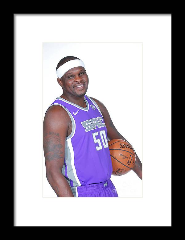 Media Day Framed Print featuring the photograph Zach Randolph by Rocky Widner