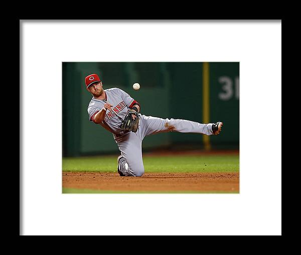 American League Baseball Framed Print featuring the photograph Zack Cozart by Jared Wickerham