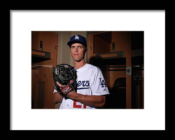 Media Day Framed Print featuring the photograph Zack Greinke by Christian Petersen
