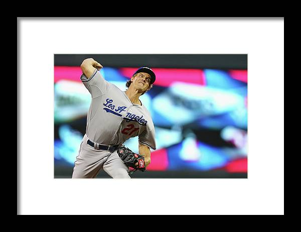 American League Baseball Framed Print featuring the photograph Zack Greinke by Elsa