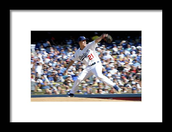 American League Baseball Framed Print featuring the photograph Zack Greinke by Harry How