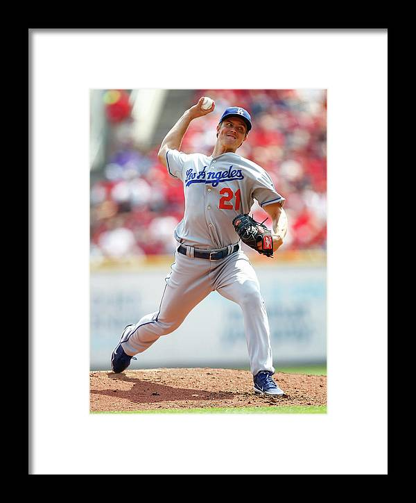 Great American Ball Park Framed Print featuring the photograph Zack Greinke by Michael Hickey
