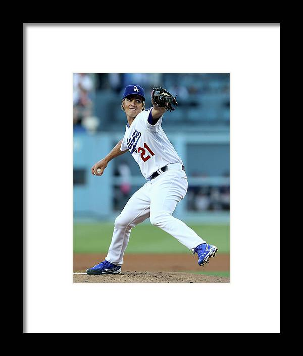 California Framed Print featuring the photograph Zack Greinke by Stephen Dunn