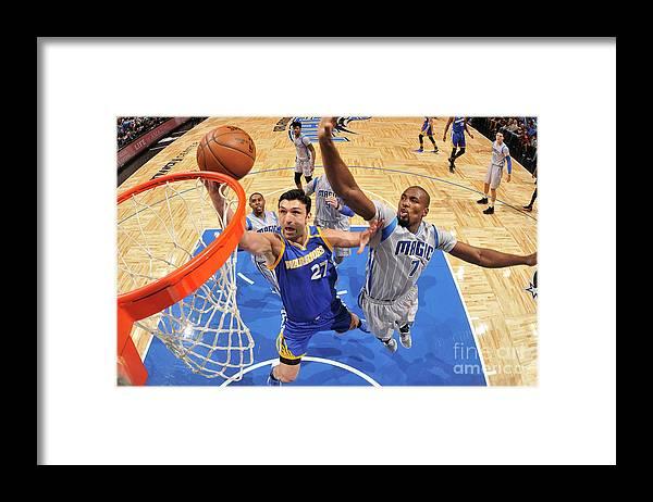 Nba Pro Basketball Framed Print featuring the photograph Zaza Pachulia by Fernando Medina