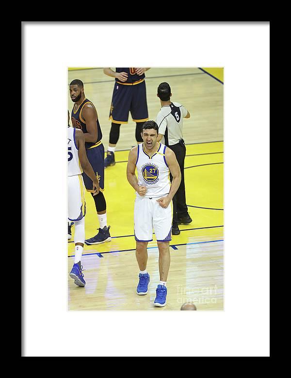 Playoffs Framed Print featuring the photograph Zaza Pachulia by Joe Murphy