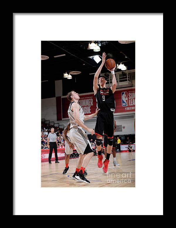 Nba Pro Basketball Framed Print featuring the photograph Zhou Qi by David Dow