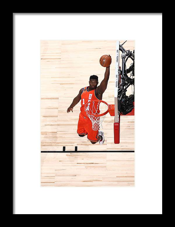 Nba Pro Basketball Framed Print featuring the photograph Zion Williamson by Nathaniel S. Butler