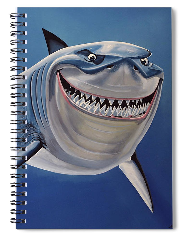 Finding Nemo Spiral Notebook featuring the painting Finding Nemo Painting by Paul Meijering