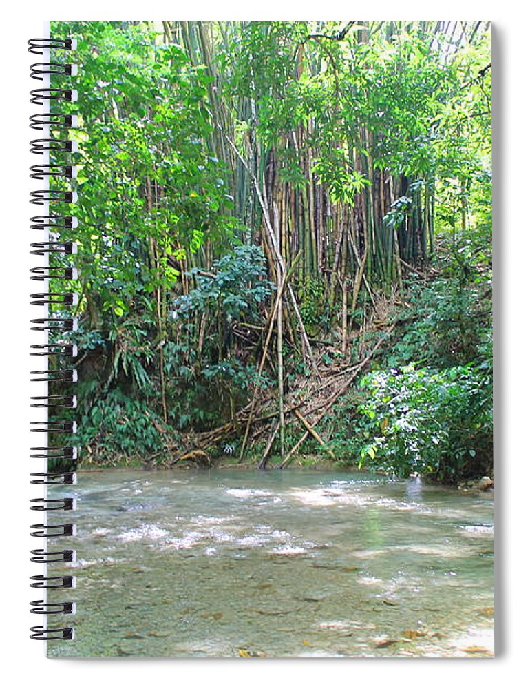 Mayfield Falls Spiral Notebook featuring the photograph Mayfield Falls Jamaica 11 by Debbie Levene