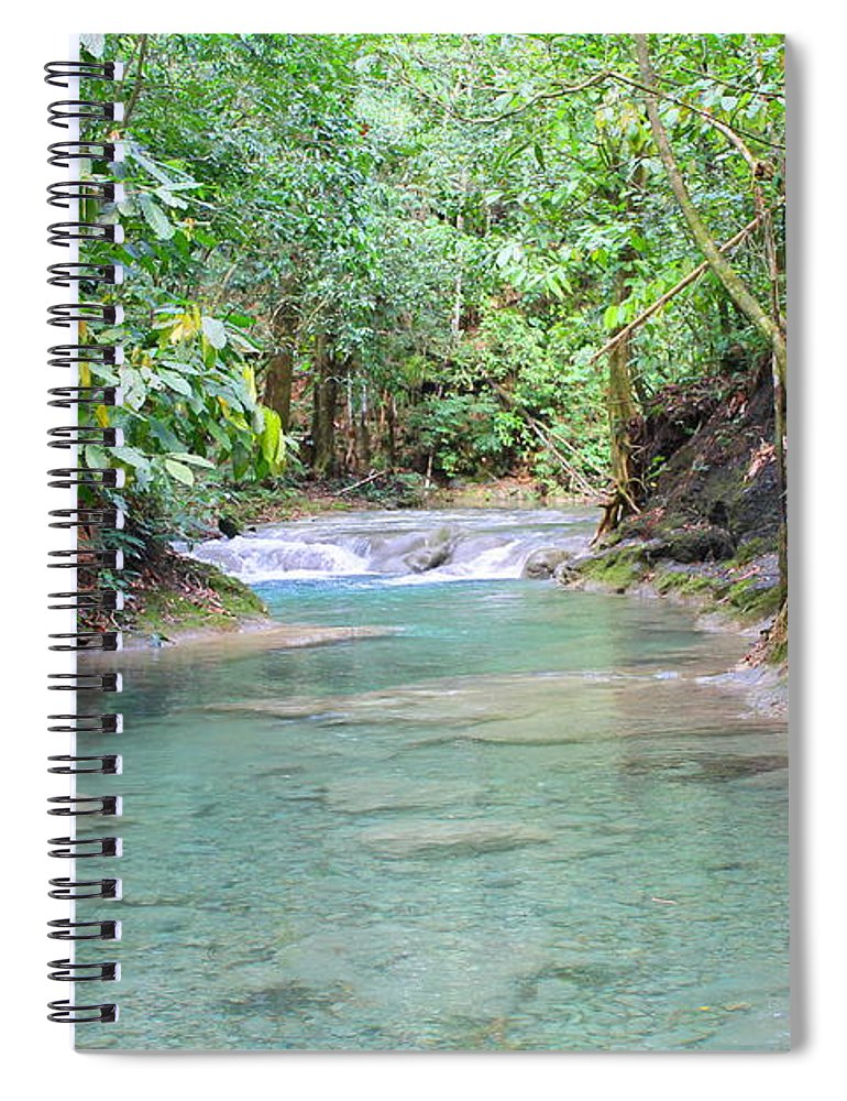 Mayfield Falls Spiral Notebook featuring the photograph Mayfield Falls Jamaica 6 by Debbie Levene