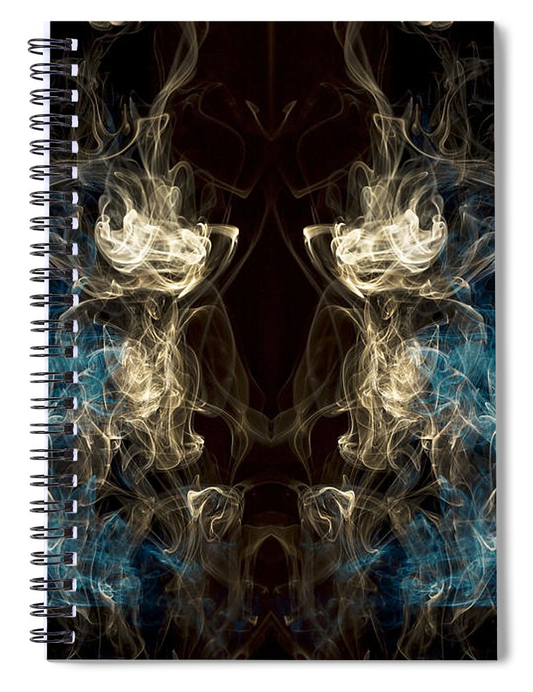 Greek Spiral Notebook featuring the photograph Minotaur Smoke Abstract by Edward Fielding