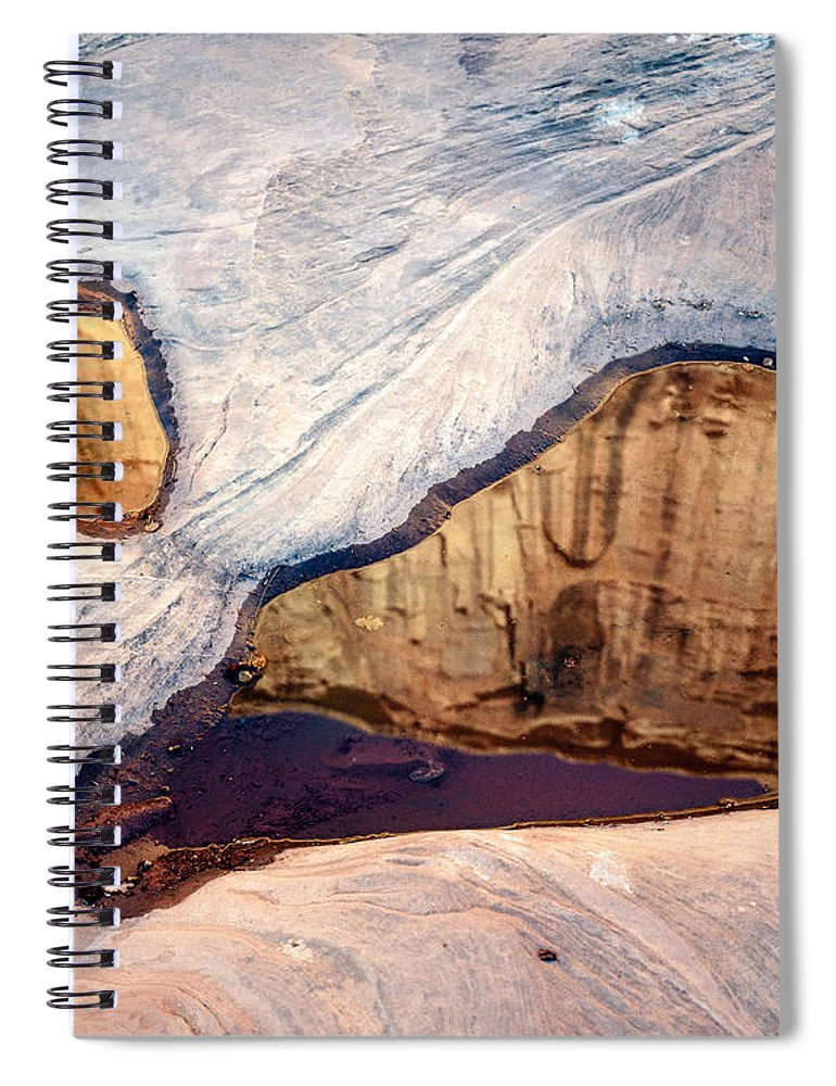 Arches National Park Spiral Notebook featuring the photograph Park Avenue Potholes by Tracy Knauer