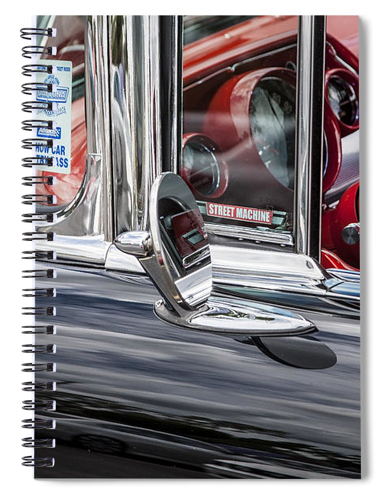 V8 Engine Spiral Notebook featuring the photograph 1957 Chevrolet Bel Air by Rich Franco