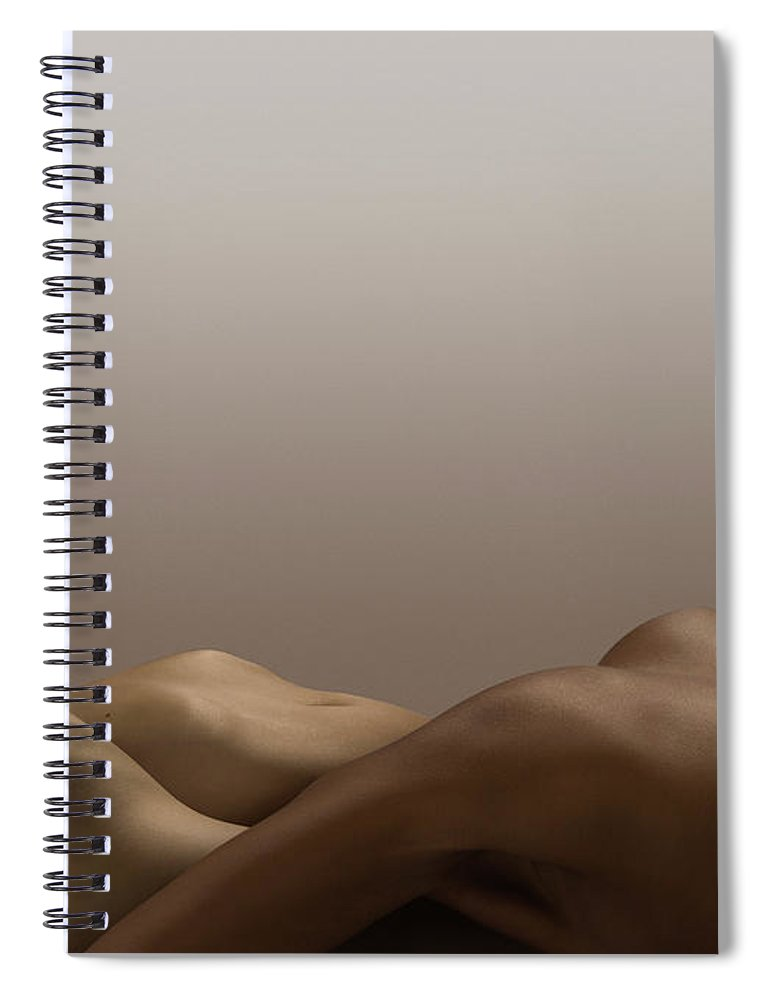 People Spiral Notebook featuring the photograph Abstract Nude Bodies, Different Skin by Jonathan Knowles
