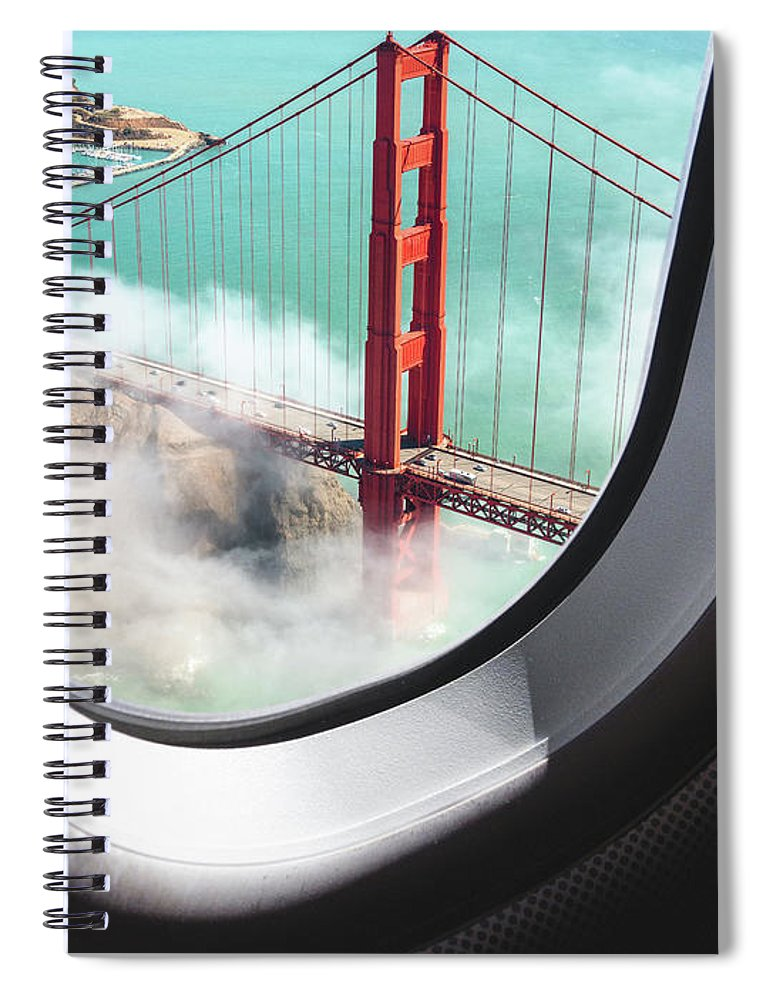 Scenics Spiral Notebook featuring the photograph Aerial View Of San Francisco Golden by Franckreporter