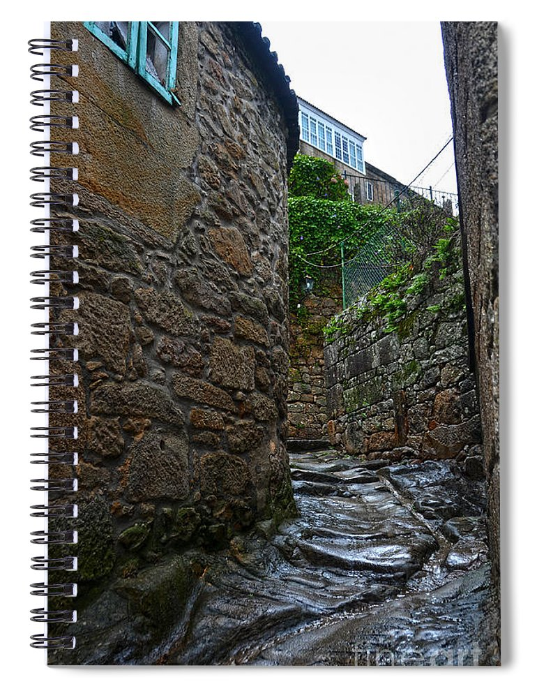 Ancient Spiral Notebook featuring the photograph Ancient Street In Tui by RicardMN Photography