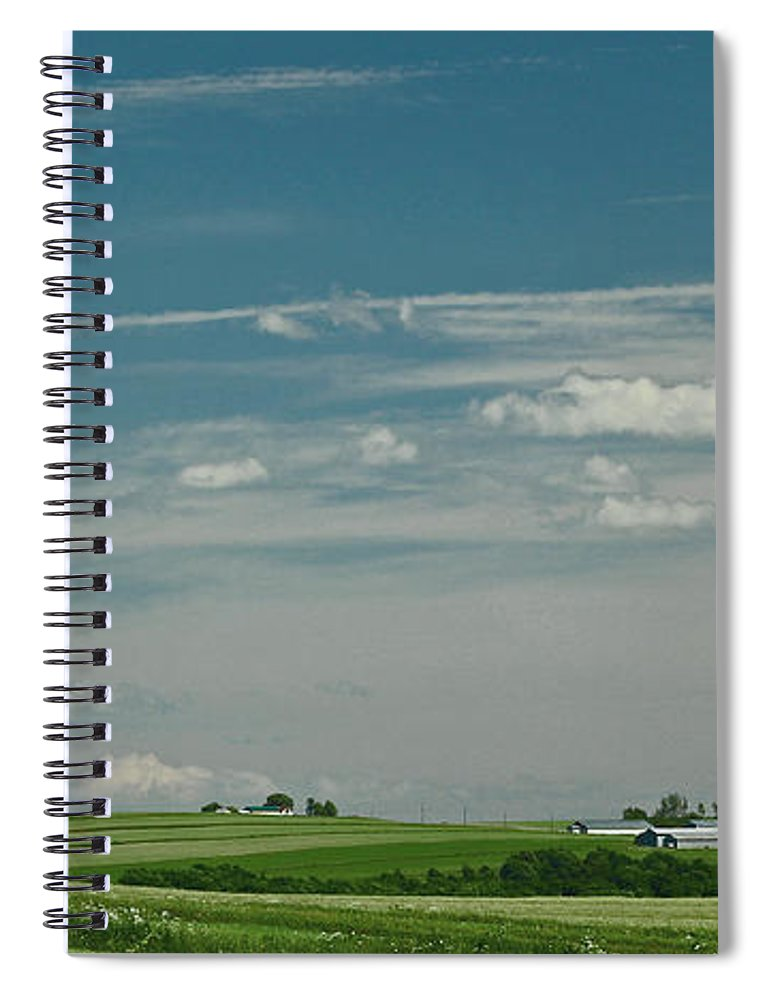 Maine Spiral Notebook featuring the photograph Aroostook 1 by Laura Mace Rand