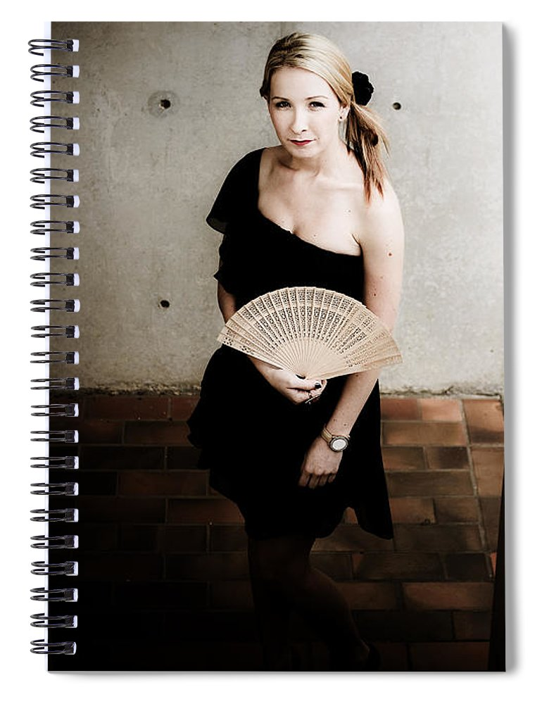 Adult Spiral Notebook featuring the photograph Asian Lifestyle Fan by Jorgo Photography - Wall Art Gallery