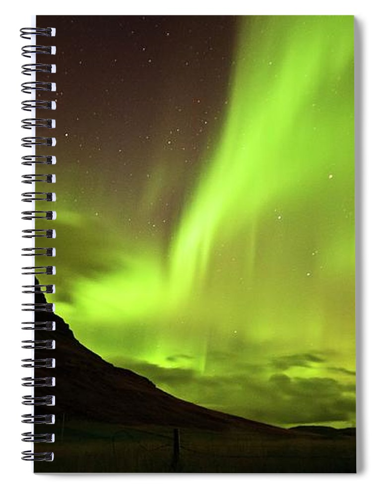 Scenics Spiral Notebook featuring the photograph Aurora Borealis by Geinis
