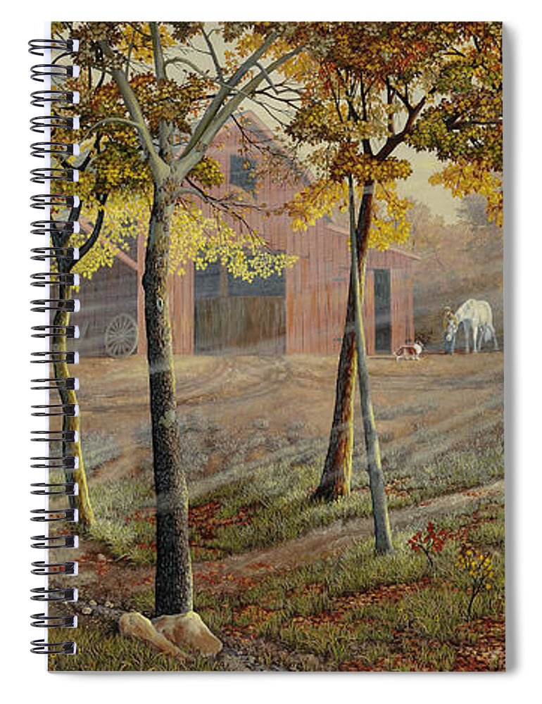 Barrel Spiral Notebook featuring the painting Barrel Spring by Duane R Probus
