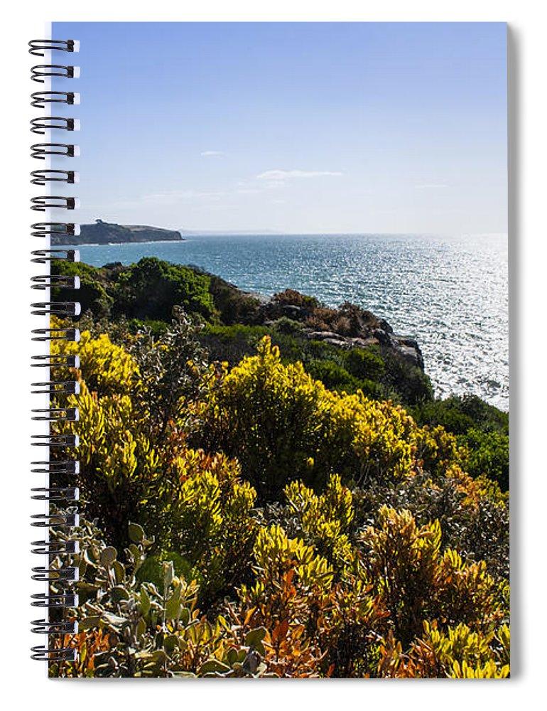 Bass Strait Spiral Notebook featuring the photograph Bass Strait Ocean Landscape In Tasmania by Jorgo Photography - Wall Art Gallery