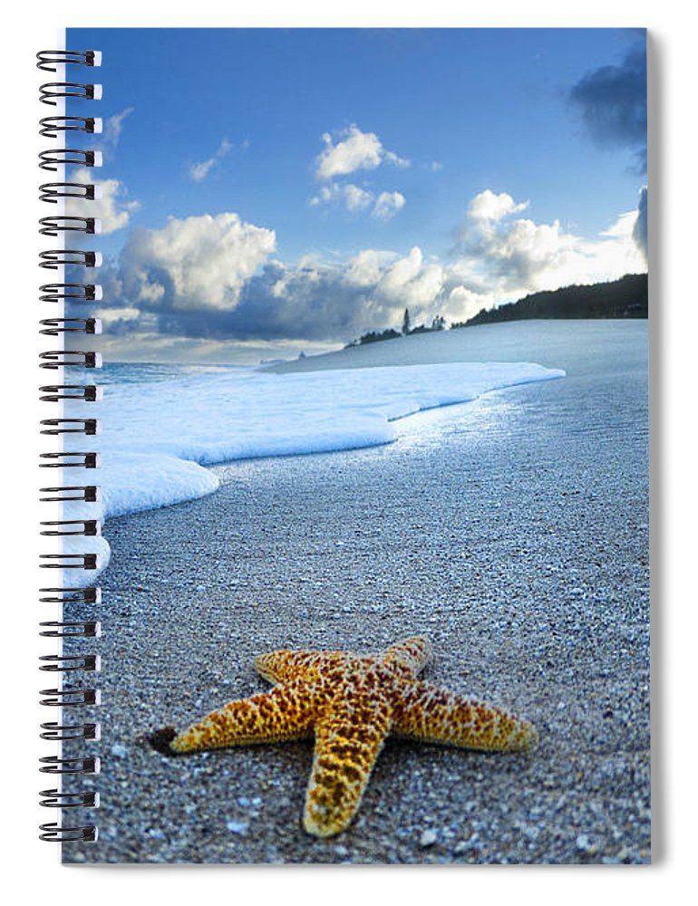 Surreal Spiral Notebook featuring the photograph Blue Foam Starfish by Sean Davey