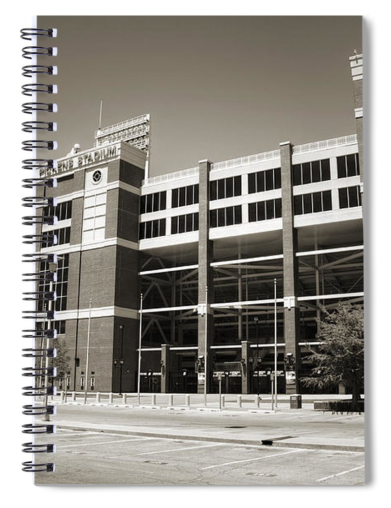 Oklahoma Spiral Notebook featuring the photograph Boone Pickens Stadium by Ricky Barnard