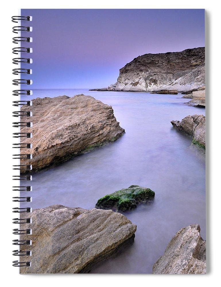 Seascape Spiral Notebook featuring the photograph Cabo De Gata by Guido Montanes Castillo