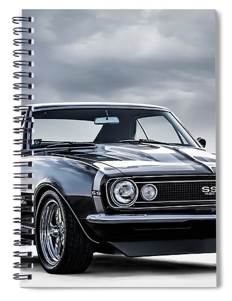 Camaro Spiral Notebook featuring the digital art Camaro Ss by Douglas Pittman