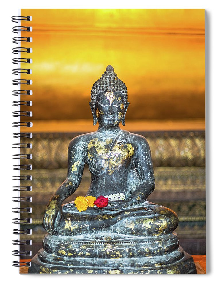 Southeast Asia Spiral Notebook featuring the photograph Grand Palace In Bangkok by Deimagine
