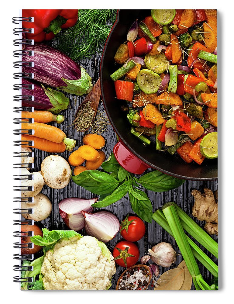 Broccoli Spiral Notebook featuring the photograph Grilled Vegetables by Fcafotodigital