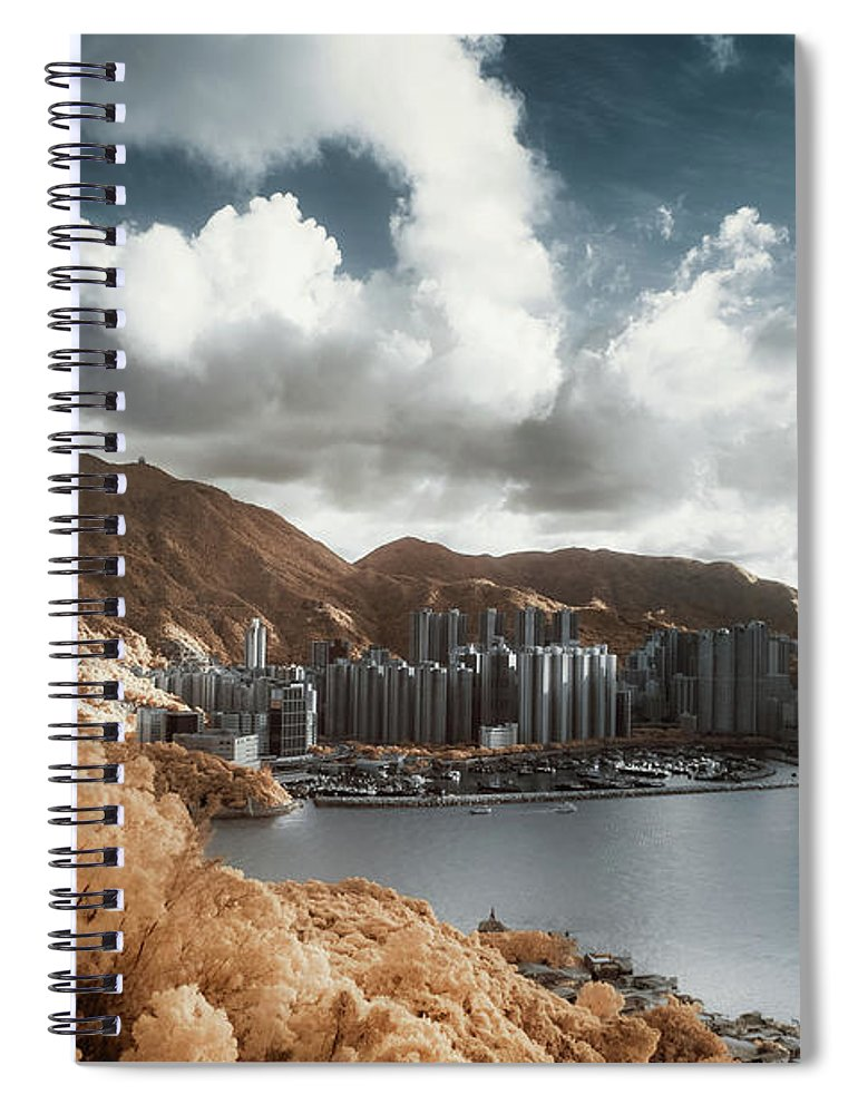 Tranquility Spiral Notebook featuring the photograph Hong Kong by D3sign
