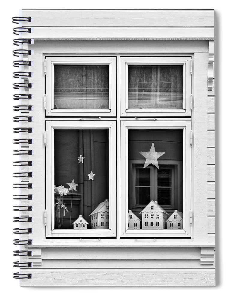 House Spiral Notebook featuring the photograph Houses And Windows by Dave Bowman