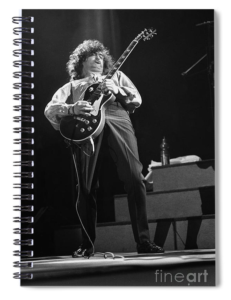 Guitarist Spiral Notebook featuring the photograph Jimmy Page by Concert Photos