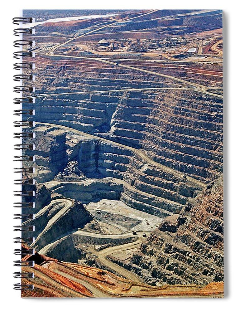 Mineral Spiral Notebook featuring the photograph Kcgm. Gold Mine,western Australia by John W Banagan