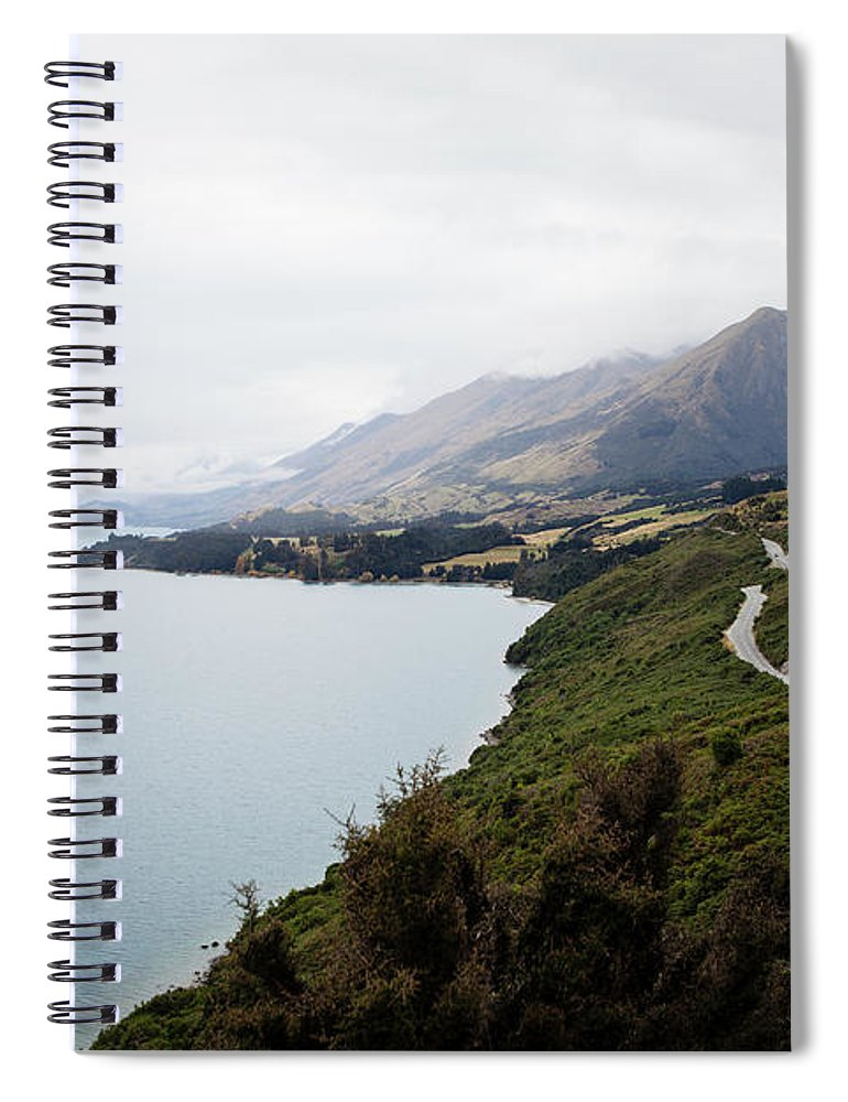 Tranquility Spiral Notebook featuring the photograph Lake Wakatipu by Claire Takacs