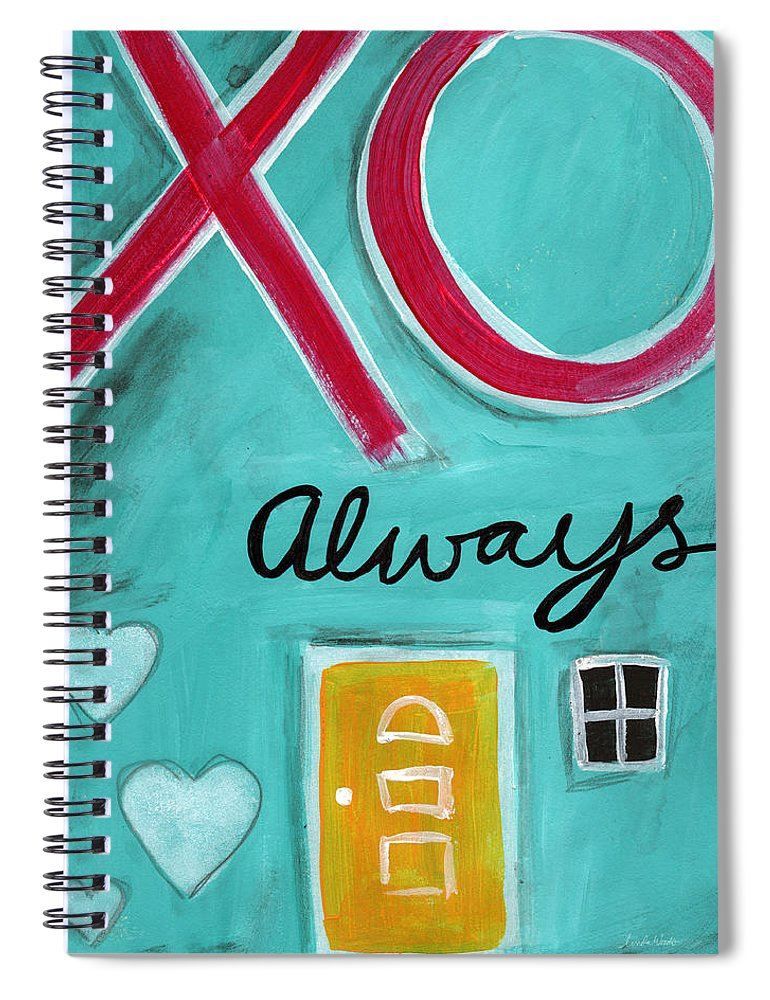 Hugs Spiral Notebook featuring the painting Love Always by Linda Woods