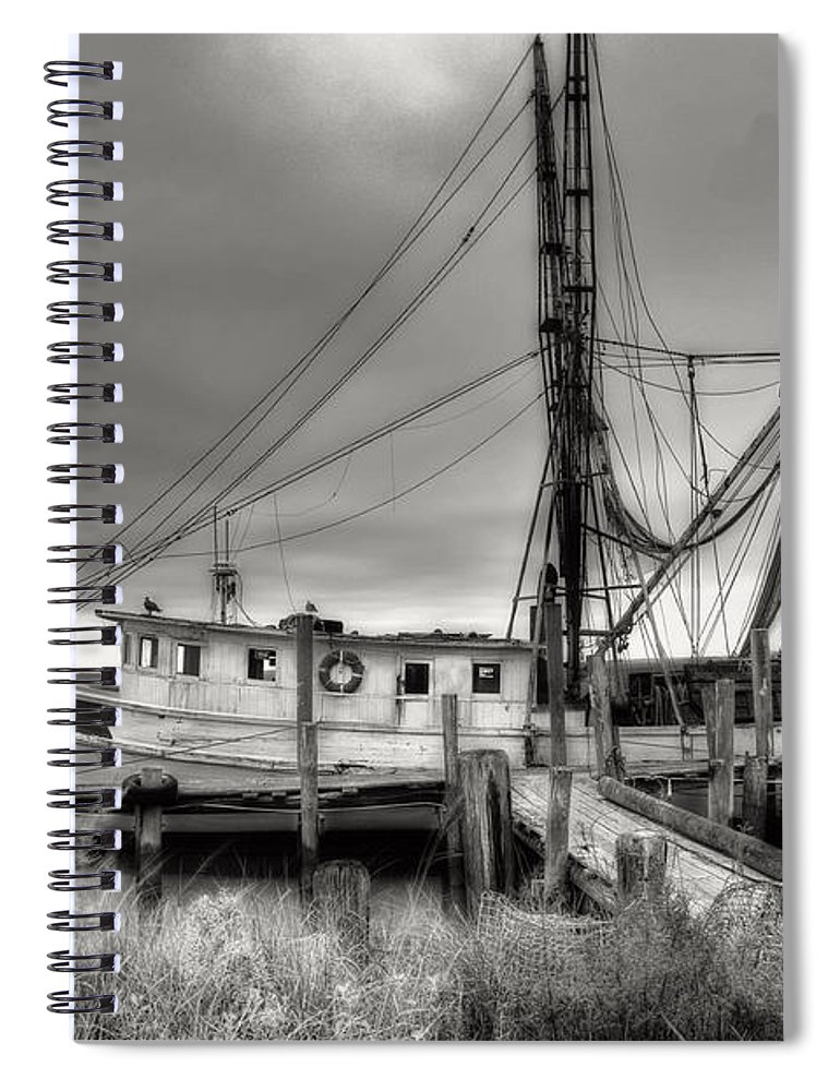 Shrimp Boat Spiral Notebook featuring the photograph Lowcountry Shrimp Boat by Scott Hansen