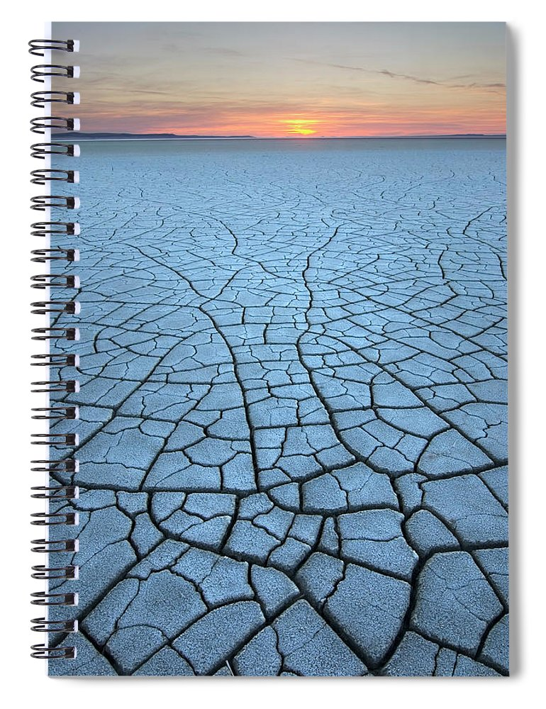 Tranquility Spiral Notebook featuring the photograph Malheur National Wildlife Refuge, Oregon by Alan Majchrowicz