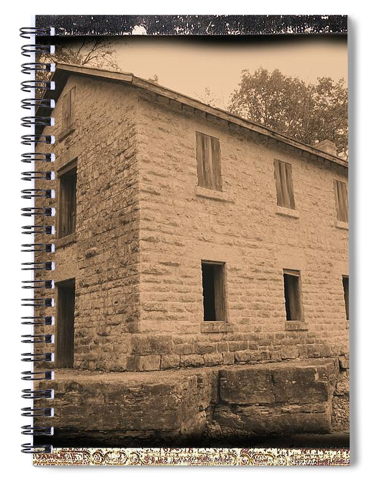 Cooperage Spiral Notebook featuring the photograph Motor Mill Cooperage by Bonfire Photography