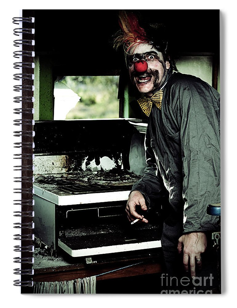Evil Spiral Notebook featuring the photograph Mr Bungle The Kitchen Clown by Jorgo Photography - Wall Art Gallery