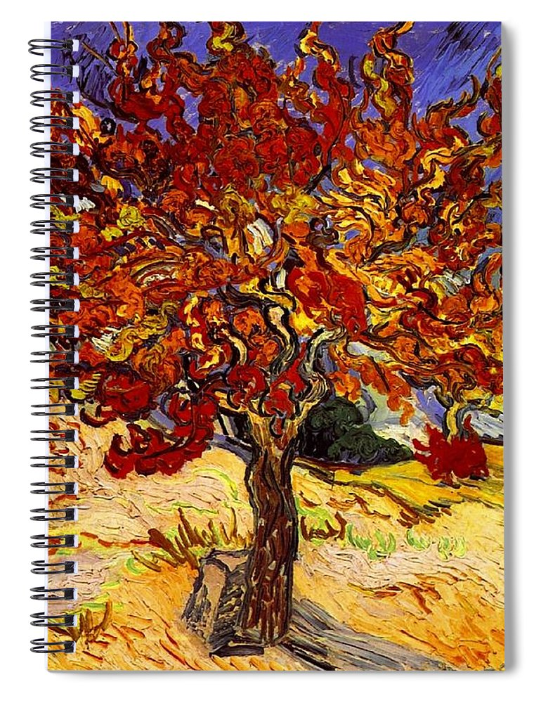 Vincent Van Gogh Spiral Notebook featuring the painting Mulberry Tree by Vincent Van Gogh