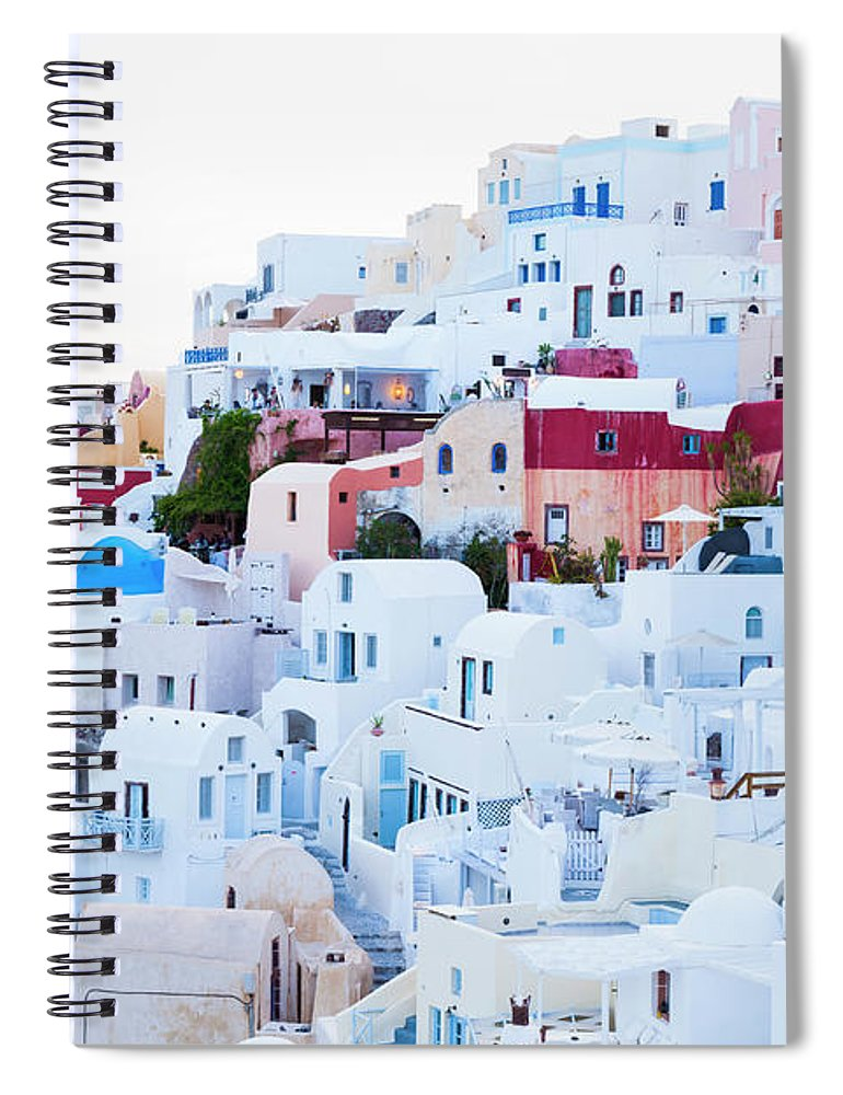 Tranquility Spiral Notebook featuring the photograph Oia by Jorg Greuel