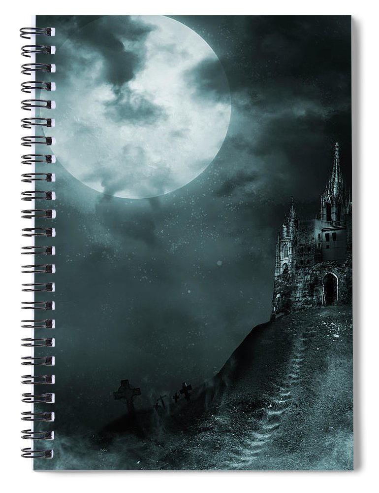 Gothic Style Spiral Notebook featuring the photograph Old Castle by Vladgans