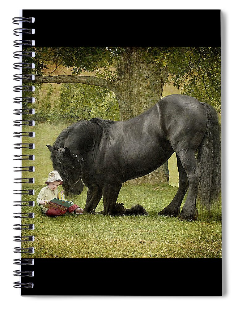 Friesian Spiral Notebook featuring the photograph Once Upon A Time by Fran J Scott